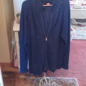 Zip-up cardigan sweater